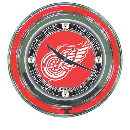 NHL Detroit Redwings 14-Inch Diameter Neon Clock
