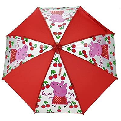 Peppa Pig - Gorgeous Red Polka Dot Dress and Cherries Umbrella