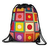 FUNKYLICIOUS Drawstring Polyester BOXY Design (Multicolour)