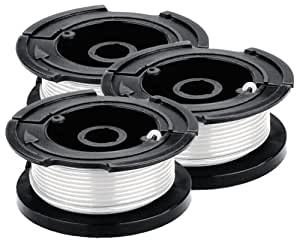 Black & Decker AF-100-3ZP 30-Feet 0.065-Inch Line String Trimmer Replacement Spool, 3-Pack