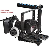 eimo DSLR Spider Rig DR-2 shoulder Mount Support Rig Stabilizer For BMPP Blackmagic Cinema Camera ,SONY,Nikon,Canon and other DSLR Cameras and Camcorders
