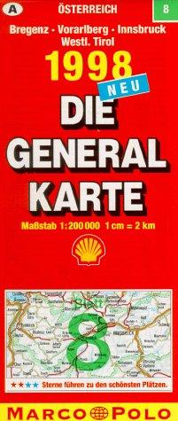 Generalkarte Österreich 8. Bregenz, Vorarlberg,