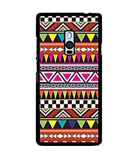 Printvisa Ethnic Multicoloured Pattern Back Case Cover for One Plus Two::One Plus 2::One+2