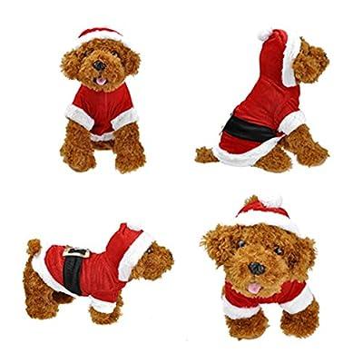 Smartbargain Pet Puppy Dog Christmas Clothes Santa Claus Costume Outwear Coat Apparel Hoodie