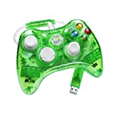 Control Rock Candy para Xbox 360 color verde.