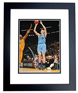 Andrei Kirilenko Autographed  Hand Signed Utah Jazz 11x14 Photo - BLACK CUSTOM FRAME by Real Deal Memorabilia