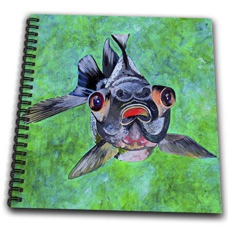 Db_46714_1 Taiche - Acrylic Painting - Fish - Black Moor Goldfish - Black Moor Goldfish, Telescope Goldfish, Goldfish, Dragon Eye Goldfish - Drawing Book - Drawing Book 8 X 8 Inch