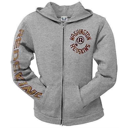 Washington Redskins -  Felpa con cappuccio  - Donna grigio X-Large