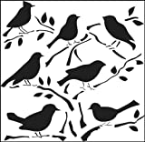Crafters Workshop Crafters Workshop Template, 12 by 12-Inch, Birds