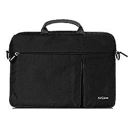 AirCase 13.3 Inch Premium Designer Nylon Multifunction Bag [Carbon Black]