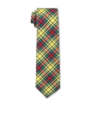 Gitman Men's Multi Plaid Tie, Yellow, One Size