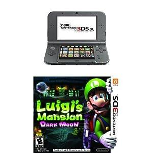 Nintendo 3DS XL Black with Luigi's Mansion by Nintendo