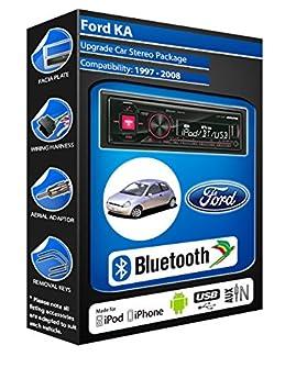 Ford KA Noir autoradio Alpine UTE 72BT-kit mains libres Bluetooth pour autoradio stéréo