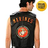 Mens U.S. Marines Leather Vest