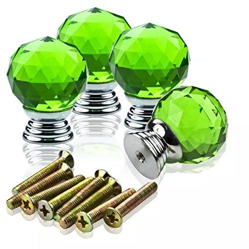 DECOOL (TM) Grün 4 PCS 40MM Kristall TürKnopf Küche Schrank Schublade Möbelgriffe Möbelknauf Kabinett Fach Knob Furniture Handle Möbelknopf Knob jetzt kaufen