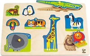 Hape - Wild Animals Peg Puzzle