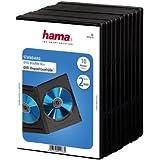 HAMA Lot de 10 Boîtiers double pour DVD Noir