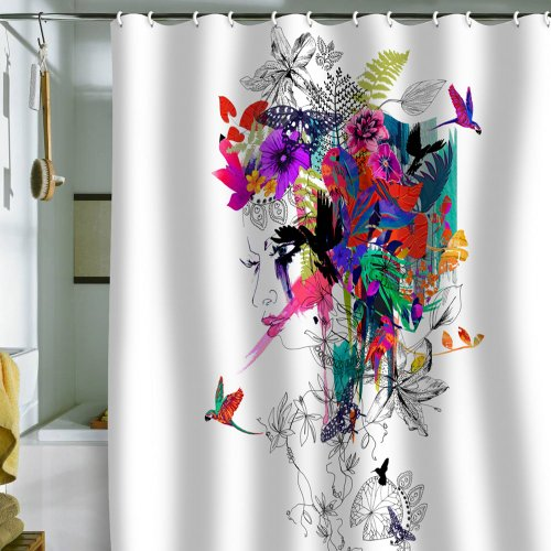 DENY Designs Holly Sharpe Tropical Girl Shower Curtain 69 By 72