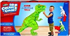 RoseArt 3D Create 'N' Color Cardboard T-Rex Dinosaur Coloring and Assembly Set (43520)