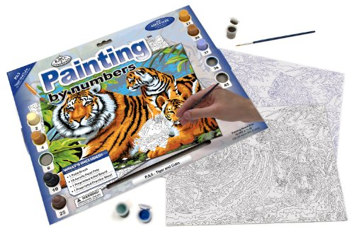 Royal & Langnickel Painting by Numbers Junior Large Art Activity Kit,Tiger and Cubs - 1