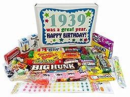 1939 77th Birthday Gift Basket Box Retro Nostalgic Candy