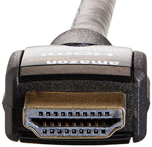 AmazonBasics - Cable HDMI de alta velocidad (con Ethernet, 3D y canal de retorno de audio) - 2 m