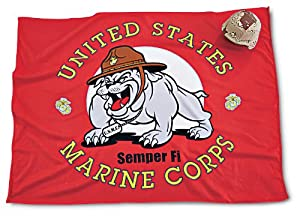 "48x63"" U.S. Military Navy Mascot Throw Fleece Blanket"