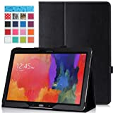 Moko Samsung Galaxy Note PRO & Tab PRO 12.2 Case - Slim Folding Cover Case for Galaxy NotePRO (SM-P9000) & TabPRO (SM-T900 / T905) 12.2 Android Tablet, BLACK (With Smart Cover Auto Wake / Sleep)