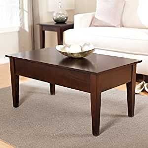 Turner Lift Top Occasional Table Collection Espresso Coffee Tables