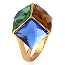 buy Sapphire Jewelry Engagement Women 18K Gold Plated Crystal Rings