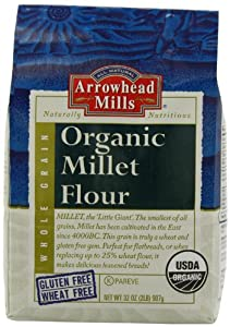Arrowhead Mills Organic Millet Flour, 2 Pound Bags (Pack of 4)