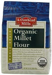 Arrowhead Mills Organic Millet Flour, 2 Pound Bags (Pack of 4)