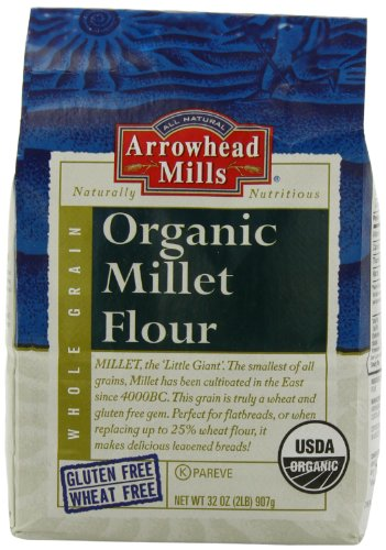 Arrowhead Mills Organic Millet Flour, 2 Pound Bags (Pack of 4) by Arrowhead Mills