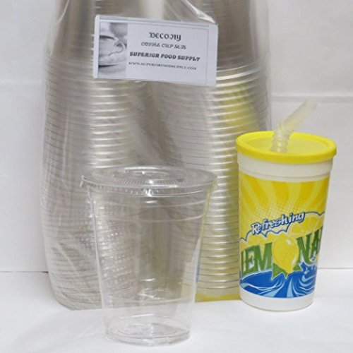 100 Sets 16 oz. Plastic CLEAR Cups with Flat Lids for Iced Coffee Bubble Boba Tea Smoothie - PLUS 1 REUSABLE CUP SET (Porcelain Red Solo Cup compare prices)