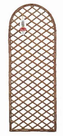 Gardman Curved Top Natural Framed Willow Trellis Panel 60cm x 1.8m 07524