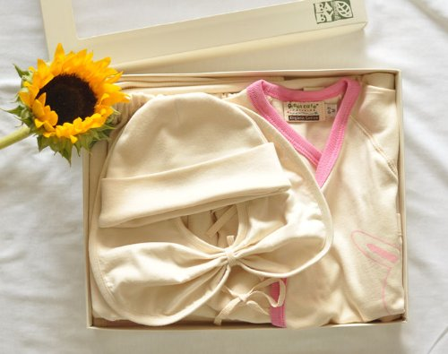 Green Care Be Natural! 100% Organic Cotton Infant Gift Set 2 For 3-6Month. (5 Pieces) front-483762