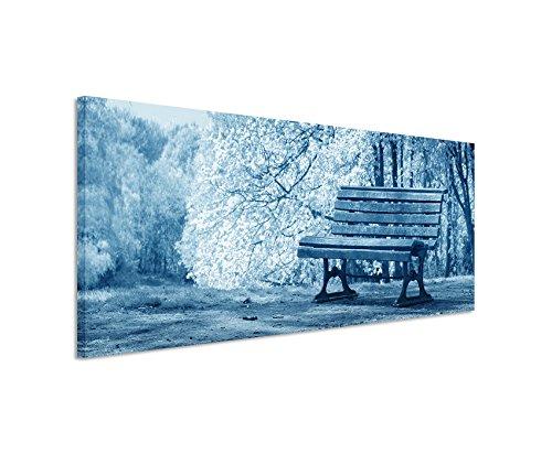 150-x-50-cm-immagine-da-parete-blu-teal-panorama-da-parete-quadro-su-vera-tela-con-panca-fioritura-a