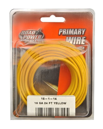 Coleman Cable 16-1-14 16-Gauge 24-Foot Automotive Copper Wire, Yellow
