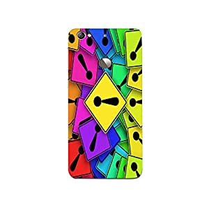 Mikzy Multicolour Exclamation Mark Pattern Printed Designer Back Cover Case for LeTv Le 1s