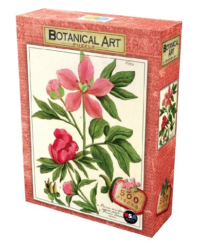 DB & Company Pink Peonies Botanical Puzzle (500-Piece)