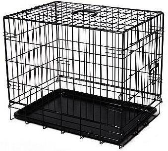 "Pawhut 24"" Single Door Folding Wire Pet Dog Crate"