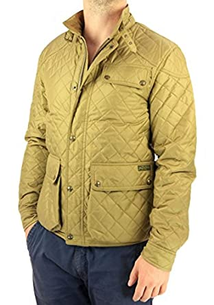 """Ralph Lauren Men's """"Cadwell Quilted"""" Jacket Gold at Amazon"""