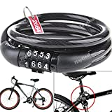 Good Quality 4 Digit Combination Steel Cable Bike Lock For Bike HUI-95170