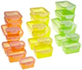 TV Das Original 01696 Maxx Cuisine Set di contenitori salvafreschezza Klick-it, 50 pezzi, colori estivi