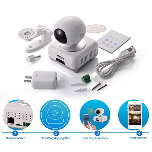 wifi home security hd 720p ip camera baby monitor wireless network camera pan tilt zoom night. Black Bedroom Furniture Sets. Home Design Ideas