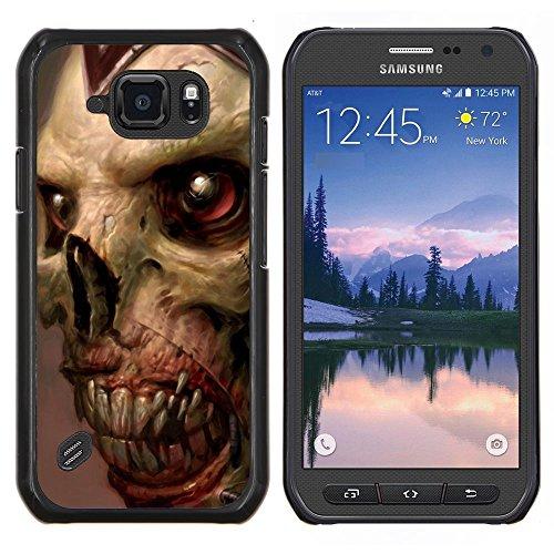 Gore Zombie Skull - Aluminum Metal & plastica dura Phone caso - nero - Samsung Galaxy S6 active / SM-G890 (NOT S6)