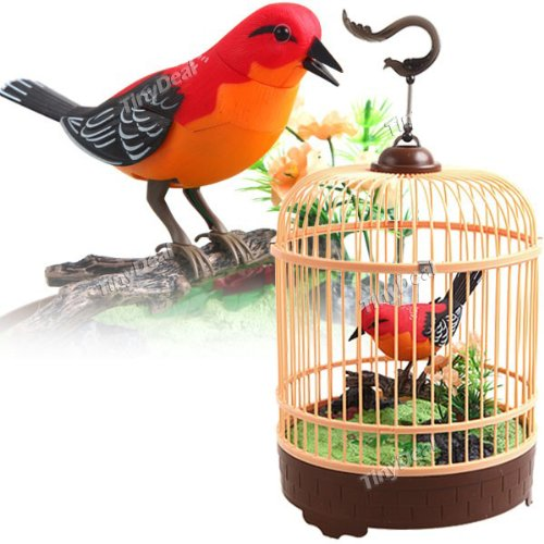 Singing & Chirping Bird in Cage – Realistic Sounds & Movements image