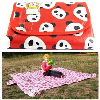 Kf Baby Feeding & Play Mat - Panda Jackie (68 X 61 Inch)
