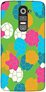 Snoogg Mosaic Tiles Colourful 2882 Designer Protective Back Case Cover For LG G2