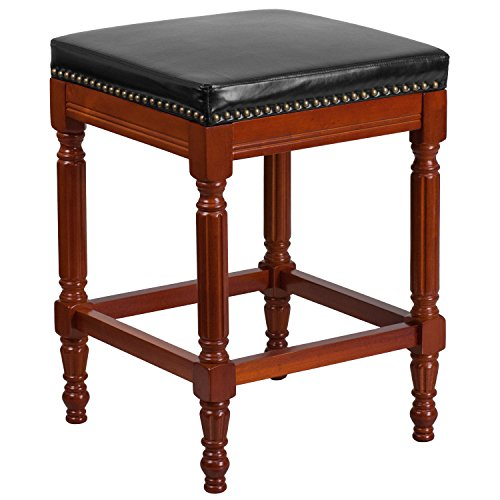 flash-furniture-26-high-backless-light-cherry-wood-counter-height-stool-with-black-leather-seat